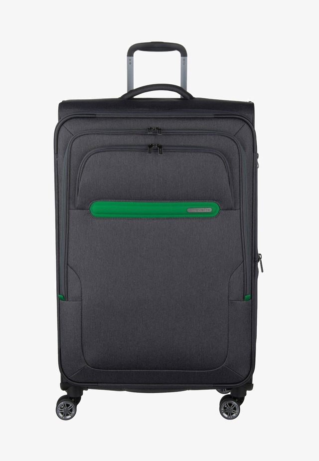 Wheeled suitcase - anthracite/green