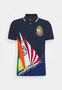 Polo shirt - colorblock sail