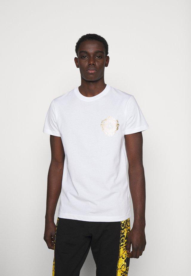 T-shirts print - white/gold