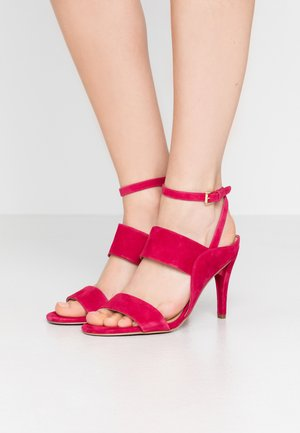 NORA  - High heeled sandals - dark raspberry