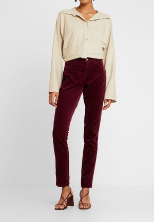 Trousers - garnet red
