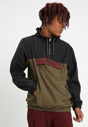 WL ANCHORED ZIP ANORAK - Windbreaker - black/olive