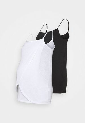 NURSING WRAP CAMI 2 PACK - Top - black/white