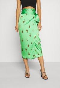 Never Fully Dressed - SUMMER RAINBOW JASPRE - Wrap skirt - green - 0