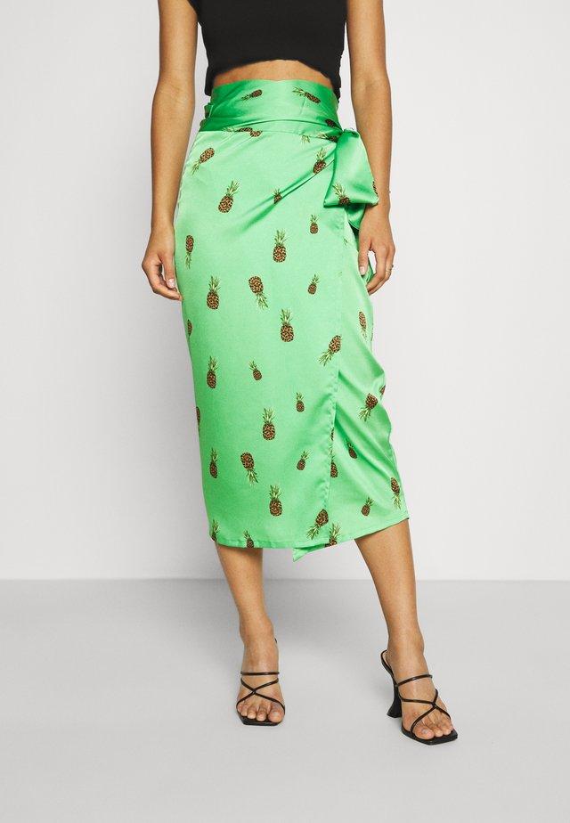MULTI USE RAINBOW JASPRE SKIRT - Pouzdrová sukně - green