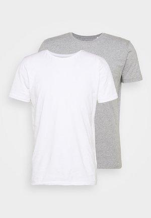 ALDER TEE 2 PACK - Basic T-shirt - grey melange