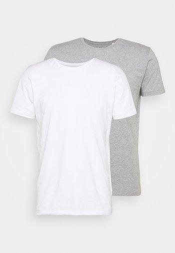 ALDER TEE 2 PACK - T-shirt - bas - grey melange