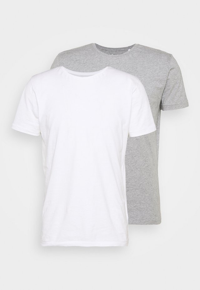 ALDER TEE 2 PACK - T-shirt basique - grey melange