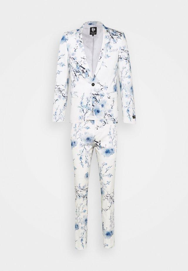 BLOSSOM SUIT - Jakkesæt - white blue