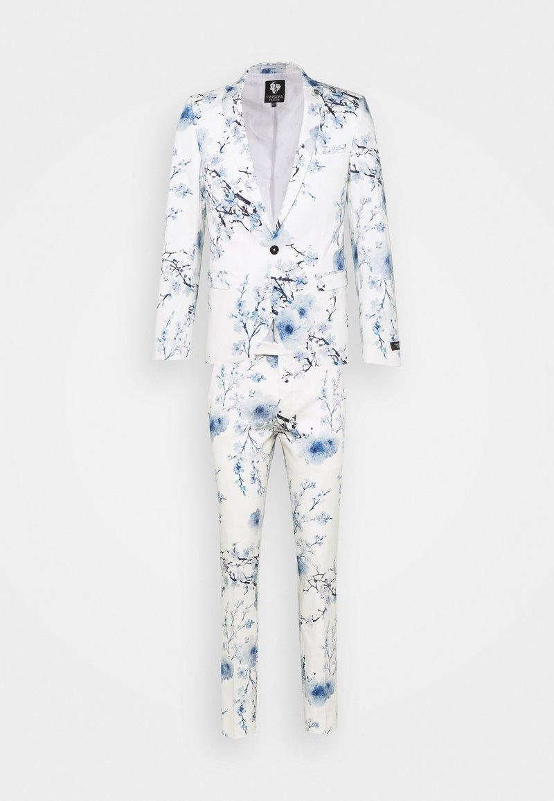 Twisted Tailor - BLOSSOM SUIT - Suit - white blue