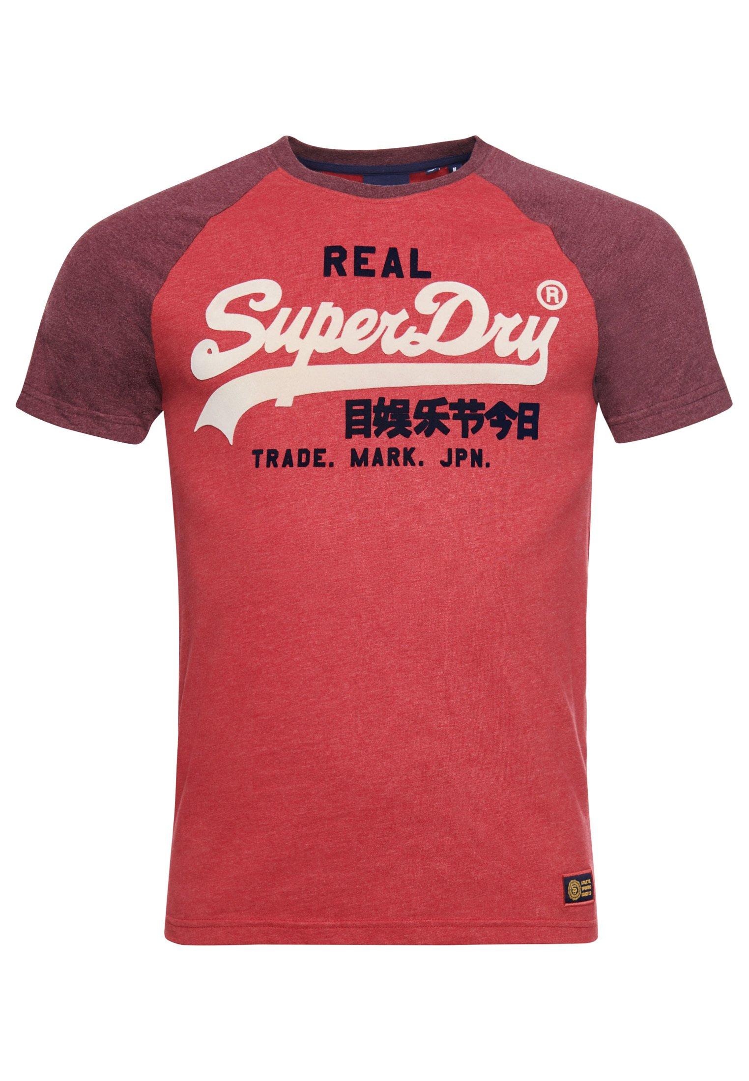 Herren T-Shirt print - red