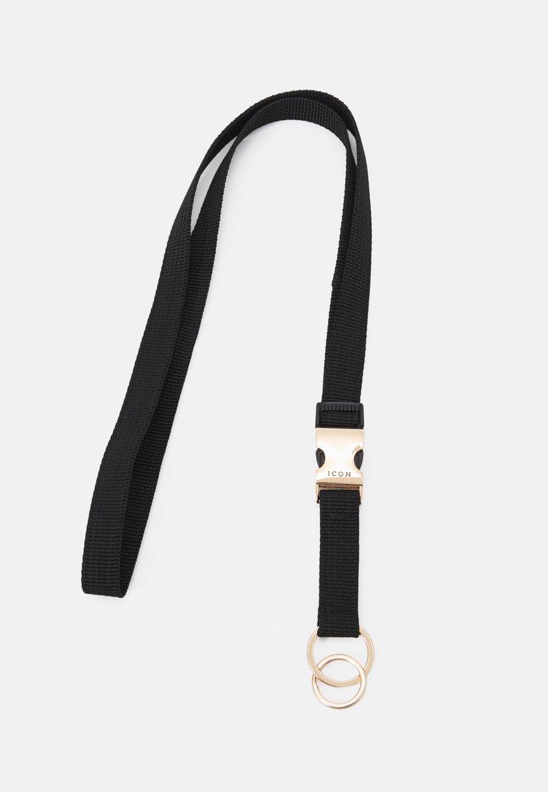 Icon Brand - TRIBAL CLIP LANYARD - Nyckelringar - black