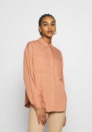 YASSALINA - Button-down blouse - mocha mousse