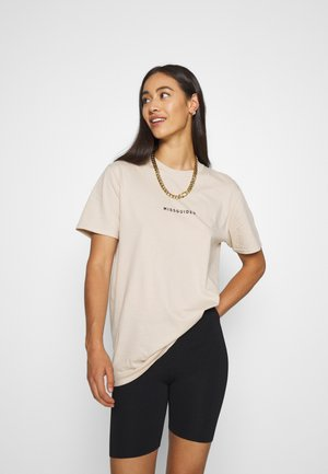 TIGER BACK PRINT GRAPHIC TEE - T-shirt print - sand