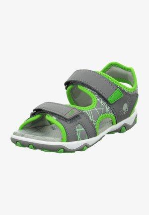 Sandales de randonnée - grau/grün