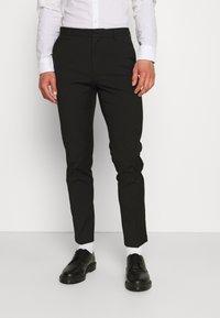 Burton Menswear London - SLIM 2 PACK - Kangashousut - black/grey - 3