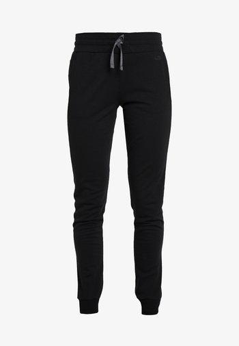 CRUSH PANTS - Tracksuit bottoms - black