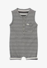 Turtledove - REVERSIBLE STRIPE SHORTIE BABY  - Overal - black/white - 3