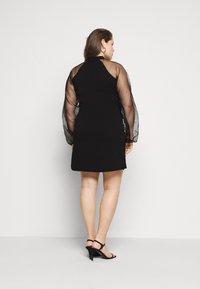 Missguided Plus - PLUS HIGH NECK SLEEVE MINI DRESS - Cocktail dress / Party dress - black - 2