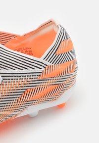 adidas Performance - NEMEZIZ .1 FG UNISEX - Moulded stud football boots - footwear white/screaming orange/core black - 5