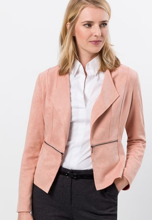 VELOURSLEDEROPTIK - Blazer - misty rose