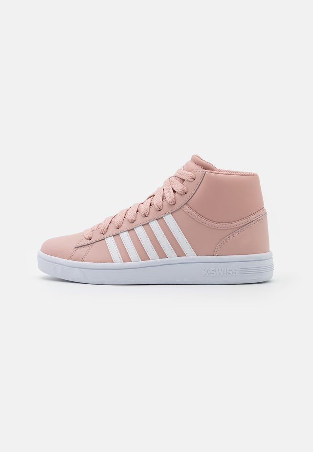 COURT WINSTON MID - High-top trainers - misty rose/white