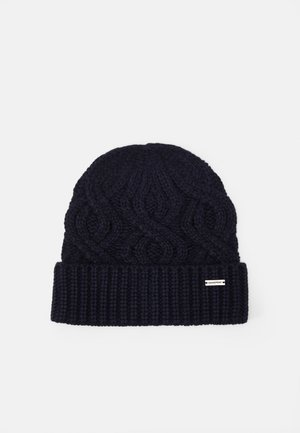 SHAKER CABLE CUFF HAT UNISEX - Čepice - dark midnight