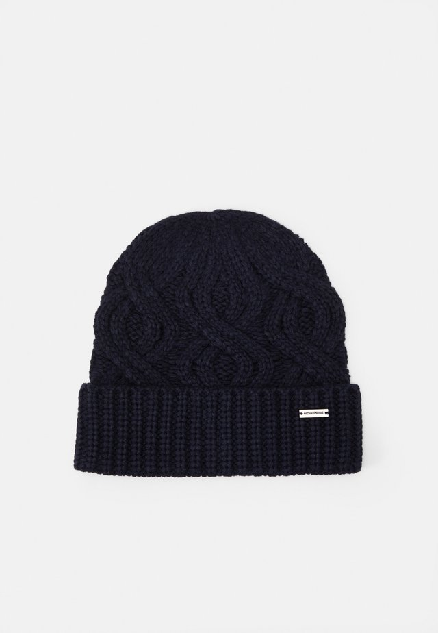 SHAKER CABLE CUFF HAT UNISEX - Lue - dark midnight