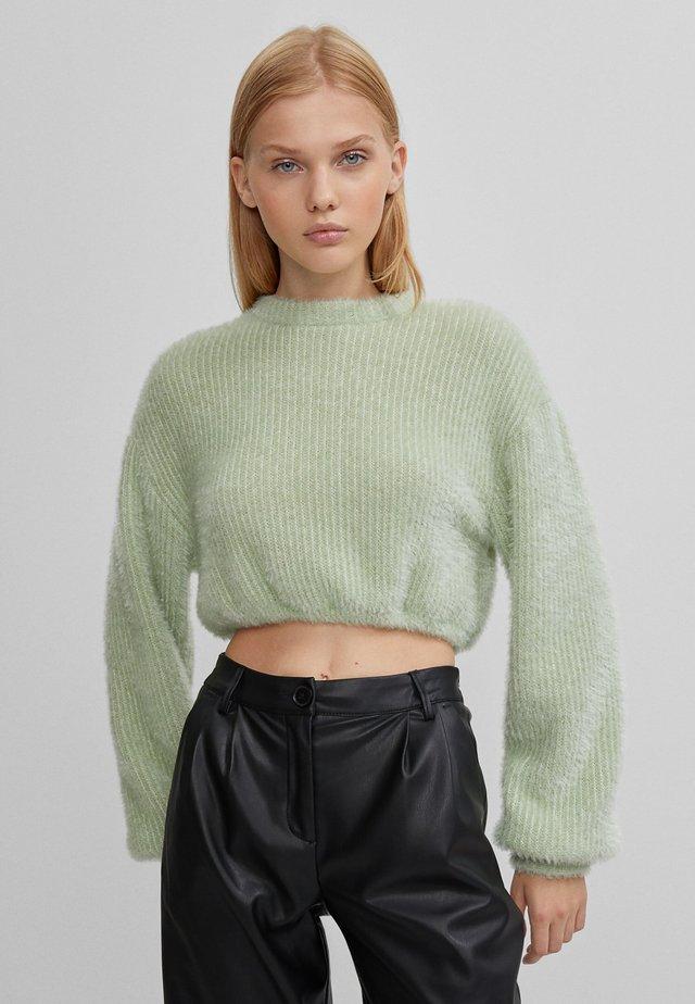 MIT LAMÉFADEN - Pullover - green