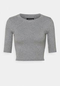 Even&Odd - 2 PACK - T-shirt basic - mottled grey/sand - 8