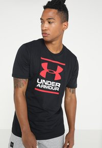 Under Armour - FOUNDATION - Print T-shirt - black/white/red - 0