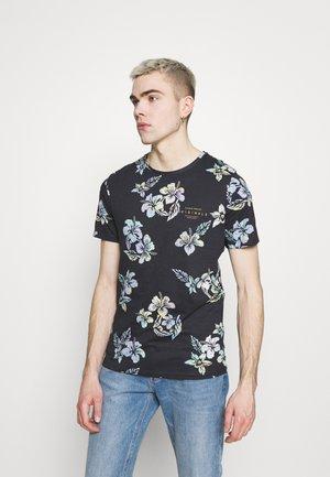 JORHAZY TEE CREW NECK - T-shirt z nadrukiem - dark navy