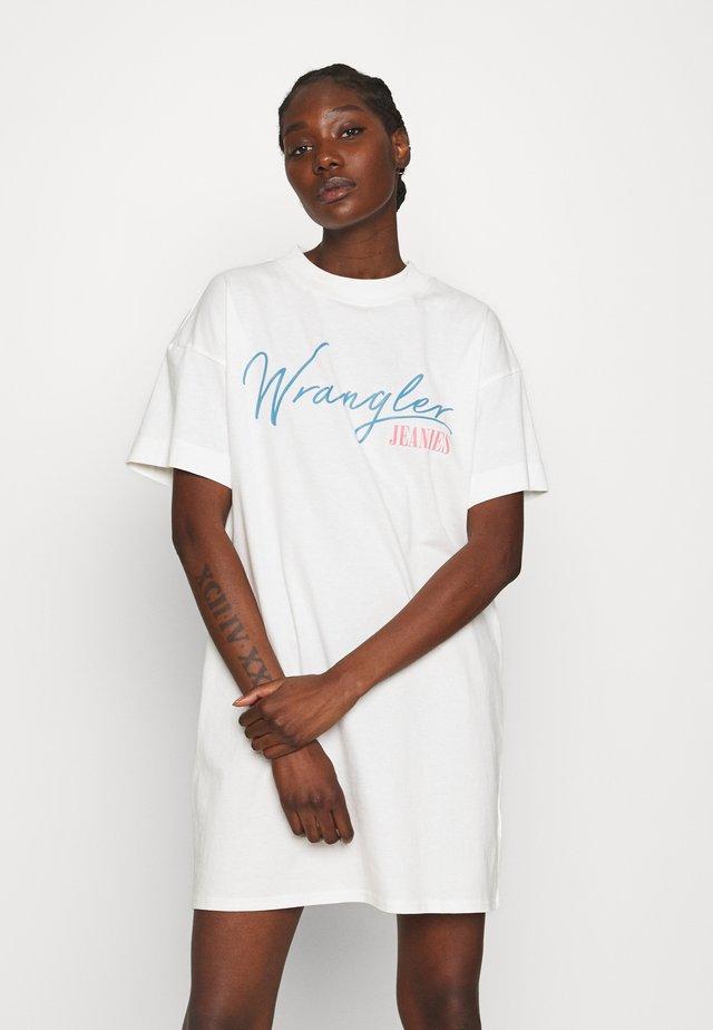 TEE DRESS - Sukienka z dżerseju - off white