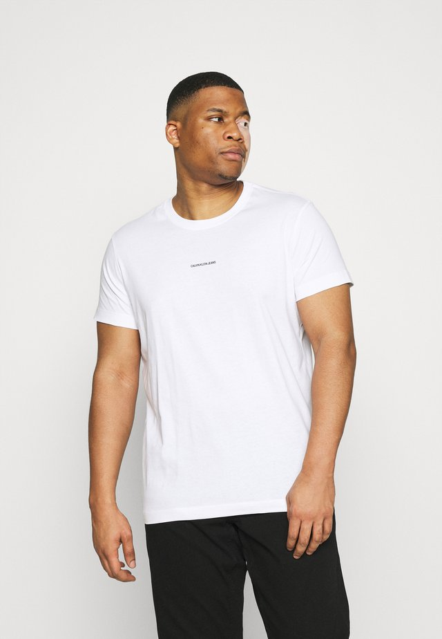 PLUS MICRO BRANDING - T-shirts med print - bright white