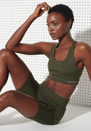 kurze Sporthose - army khaki