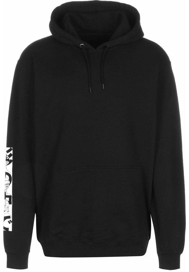 Hoodie - black garment washed