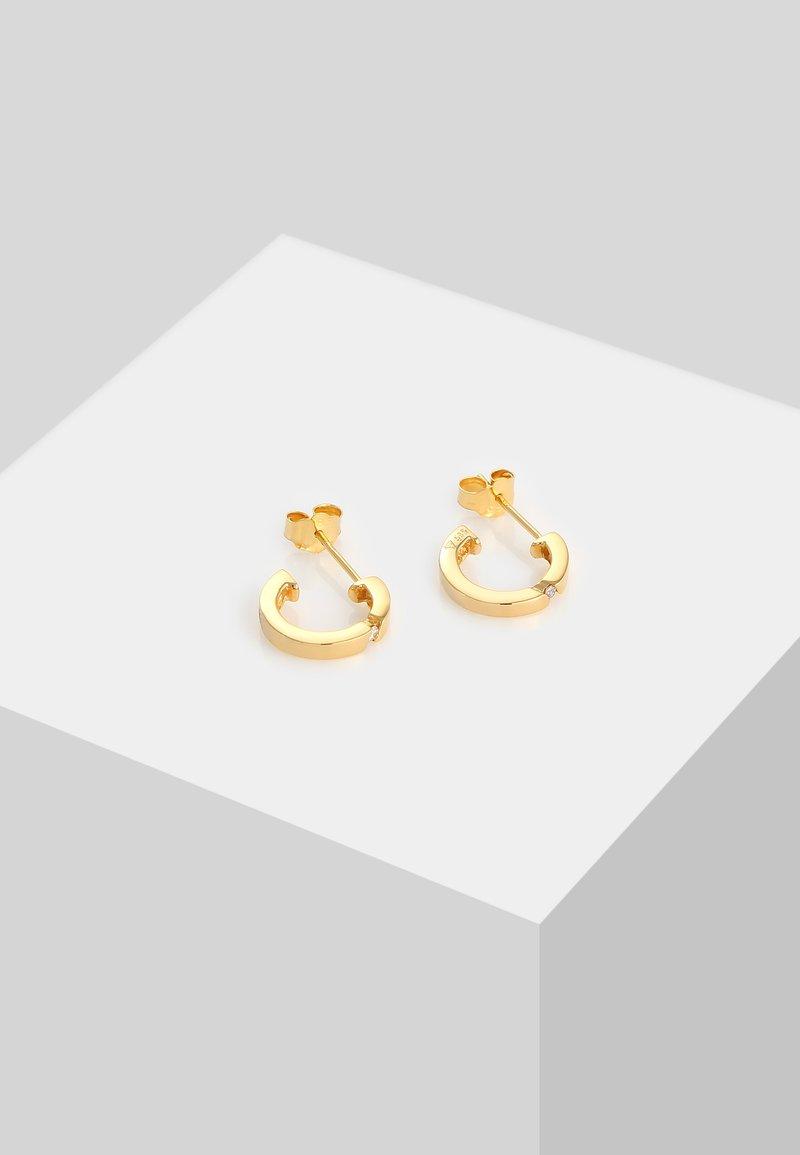DIAMORE - CREOLE - Earrings - gold-coloured
