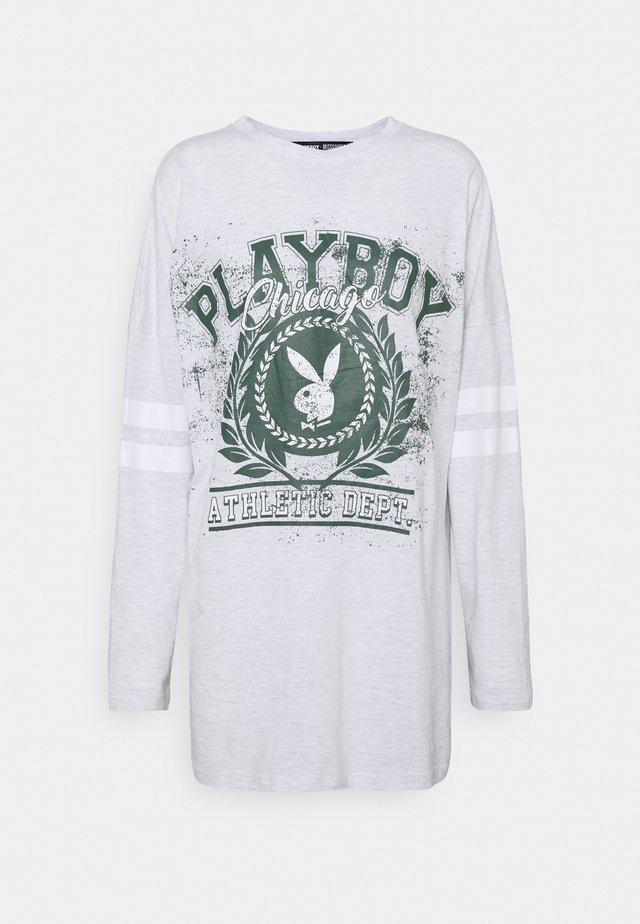 PLAYBOY VARSITY BUNNY DRESS - Robe en jersey - grey marl