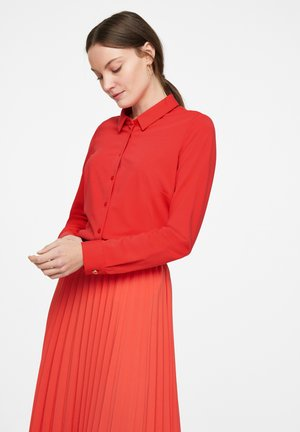 LANGARM - Button-down blouse - red