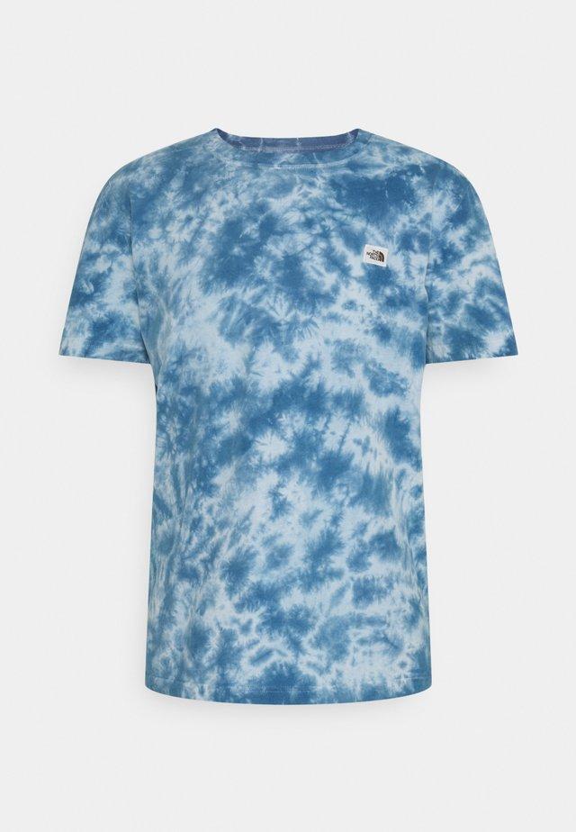 NATURAL DYE TEE - T-shirt con stampa - monterey blue wash