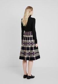 Derhy - OBERKAMPF - A-line skirt - black/purple - 2