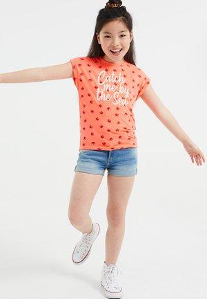 Print T-shirt - bright pink