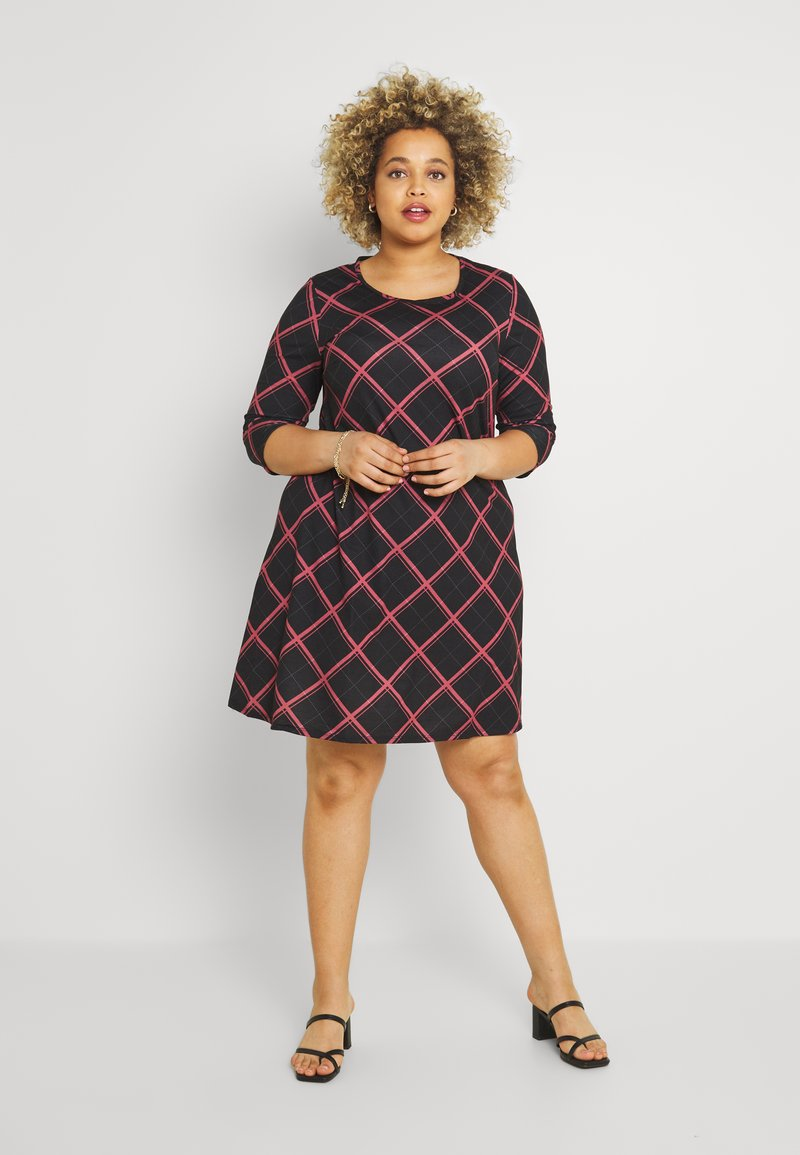 CAPSULE by Simply Be - SLEEVE SWING DRESS - Day dress - pink