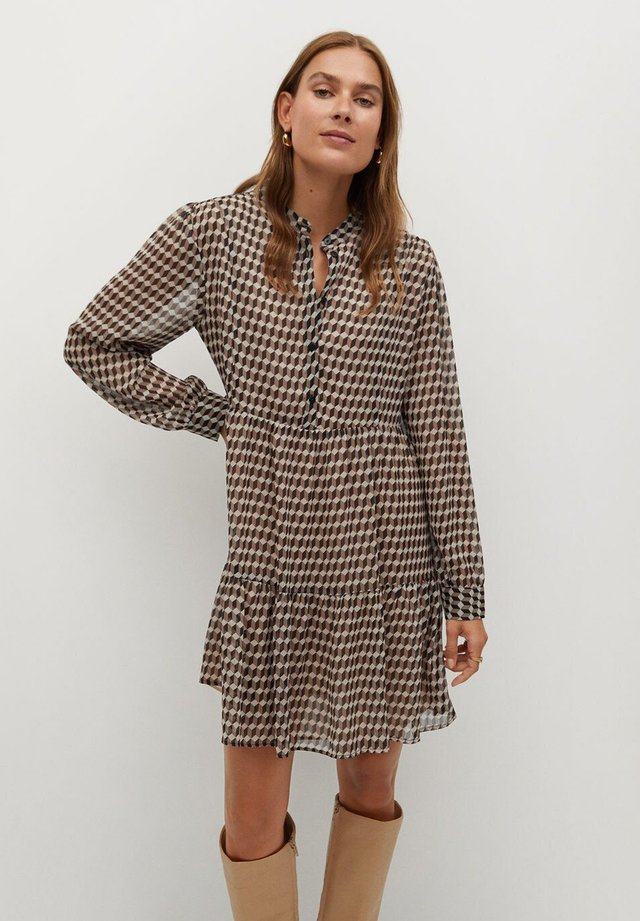 VIENA - Shirt dress - beige