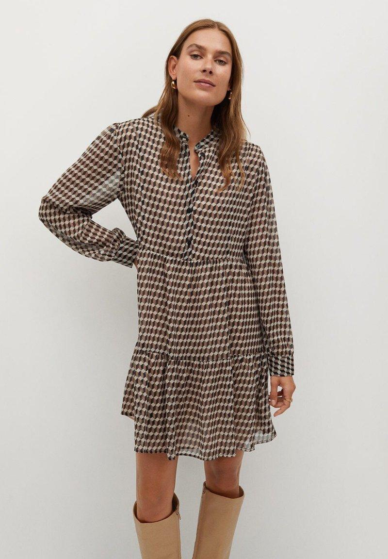 Mango - VIENA - Shirt dress - beige