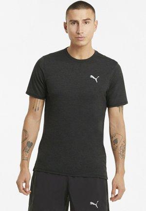 RUN FAVORITE HEATHER TEE - T-shirt basic - puma black heather