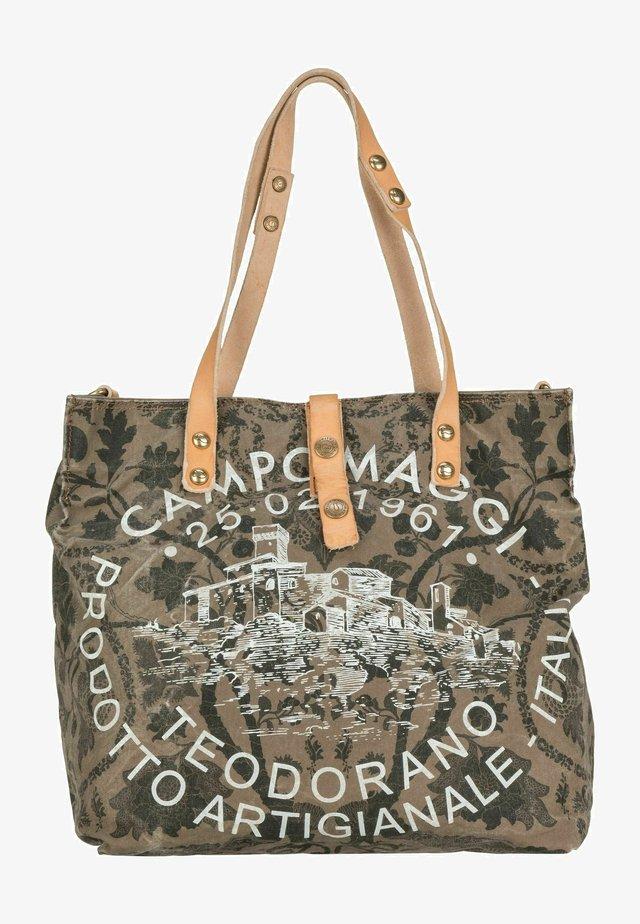 Handbag - verde militare/naturale/stampa