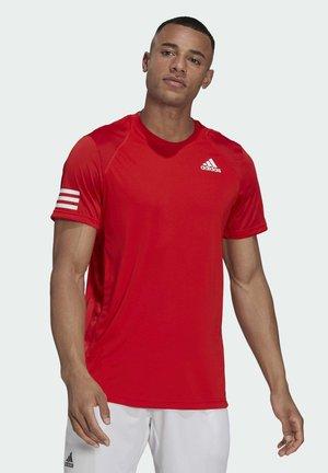3-STREIFEN - Camiseta estampada - red