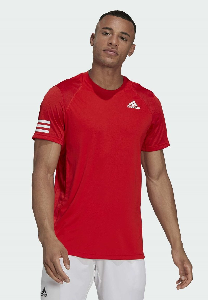 adidas Performance - 3-STREIFEN - T-shirt imprimé - red