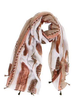 Scarf - brown/white